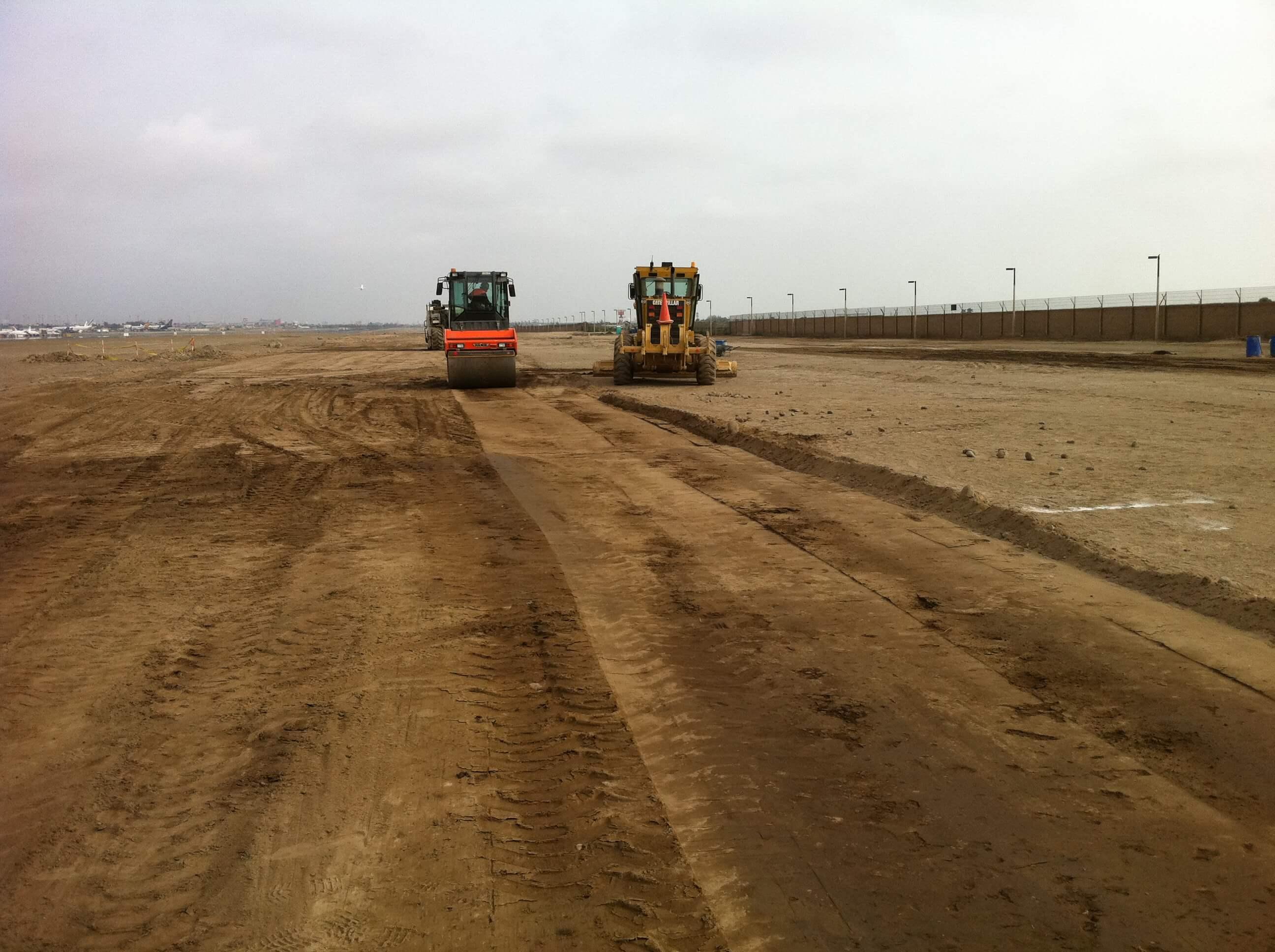 Nivelación y compactación Aeropuerto de Lima